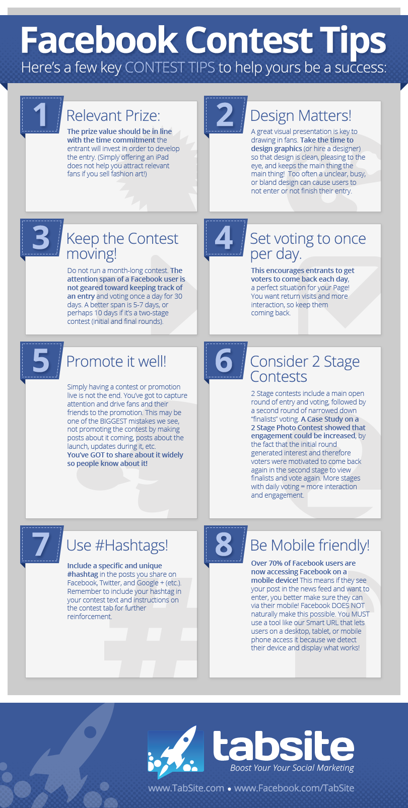 Facebook Contest Tips INFOGRAPHIC 8 Facebook Contest Success Tips INFOGRAPHIC