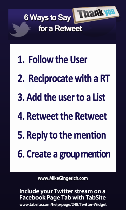 6 ways to say thanks for a Retweet!