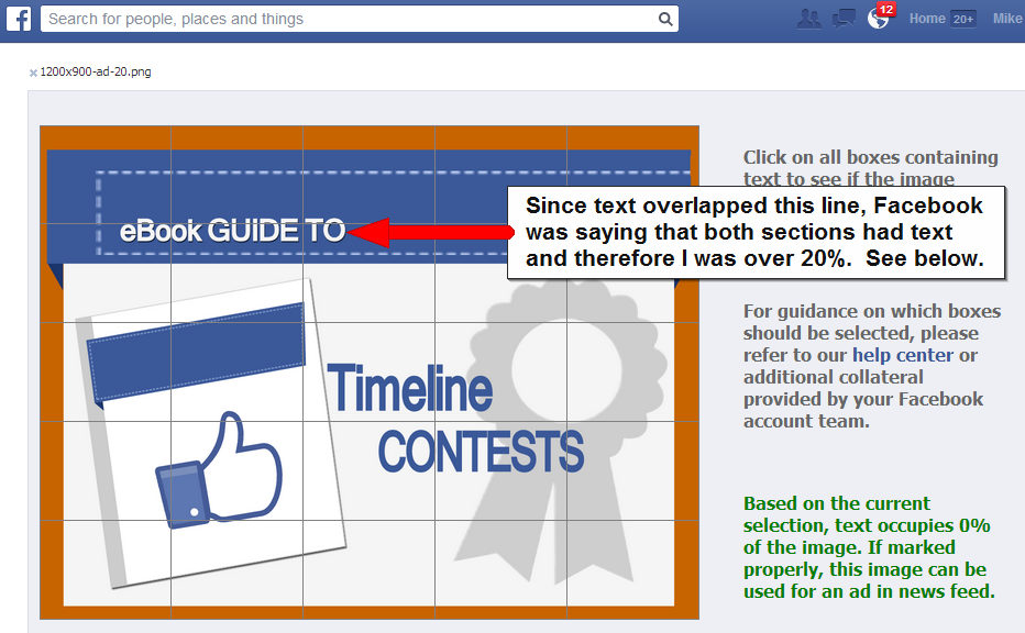 Facebook Ad Link and Photo Post 20 Percent Text Templates - Mike ...