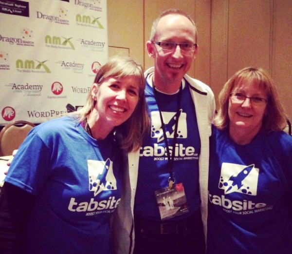 Andrea, Mike, and Phyllis sporting TabSite T's!