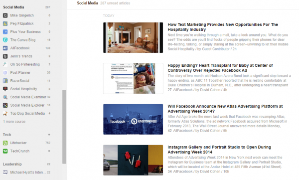feedly view