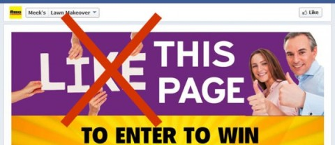 """Example of """"Like Gate"""" that can no longer be done on Facebook"""
