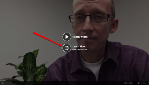 """Example of the """"Learn More"""" Call to Action Facebook offers for any Facebook Video"""
