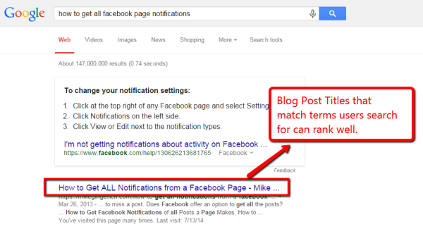 SEO Tips: Titles Matter in Search