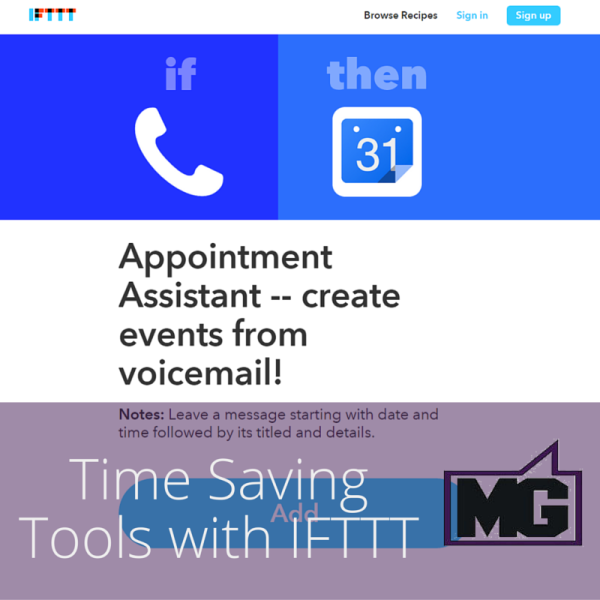 Time Saving Tools with IFTTT