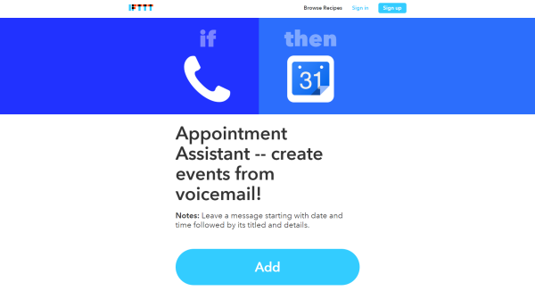 ifttt appointment assistant