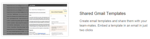shared gmail templates