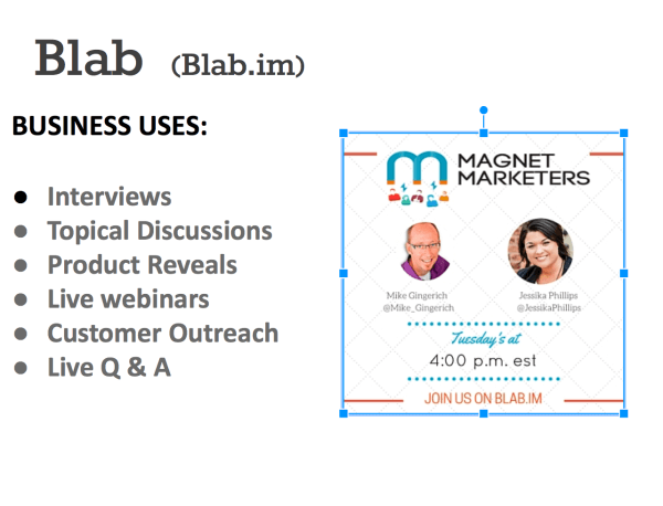 blab for business uses