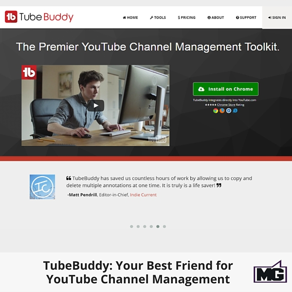 TubeBuddy: Your Best Friend for YouTube Channel Management