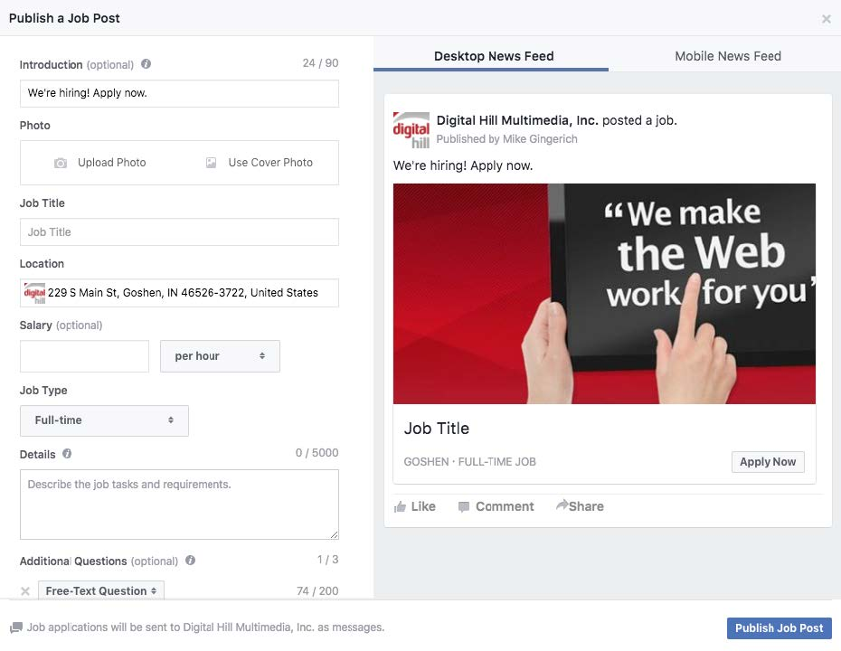 How Do I Manage Job Posts for my Facebook Page 2