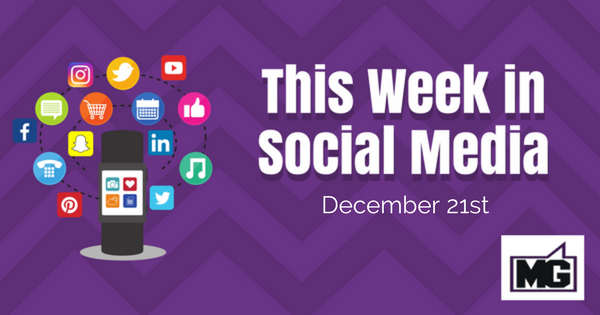 Facebook Updates, Twitter and Instagram Updates for December 21st