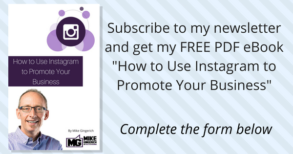 Subscribe to my newsletter and get my FREE PDF eBook_How to Use Instagram to Promote Your Business_